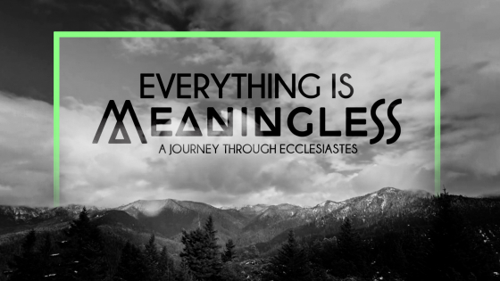 Everything is Meaningless